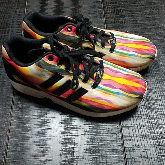 Adidas Torsion ZX Flux Multicolor Rainbow shoes